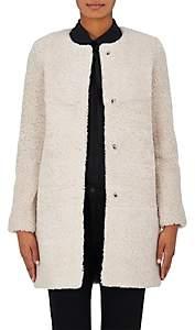 Barneys New York Women's Shearling Cocoon Coat-Beige, Tan