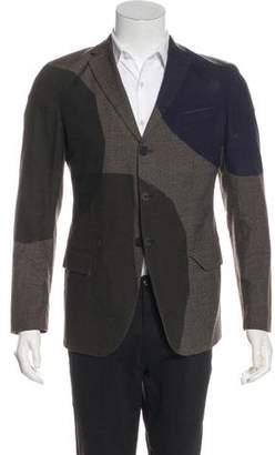 Bottega Veneta Wool Color Block Blazer