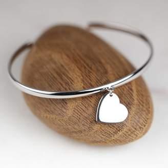 Nest Children's Solid Silver Heart Bangle