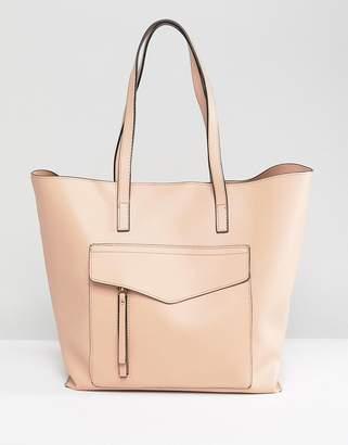 New Look Minimal Pocket Shopper Bag
