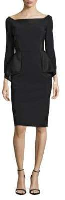 Chiara Boni Mesh Peplum Dress