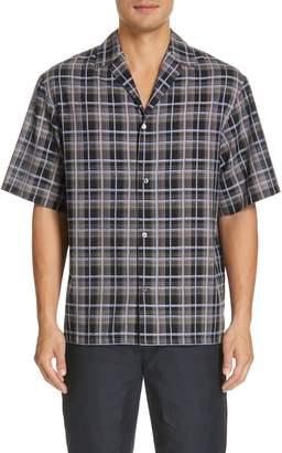 DEVEAUX Oversize Plaid Camp Shirt