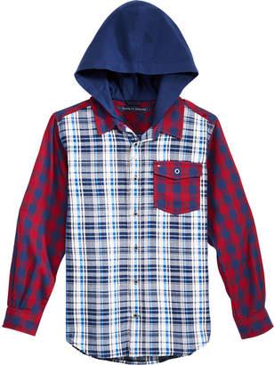 Tommy Hilfiger Big Boys Trevor Plaid Hooded Shirt