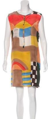 Issey Miyake Silk Printed Dress