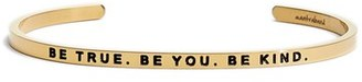 Women's Mantraband 'Be True. Be You. Be Kind' Cuff $35 thestylecure.com