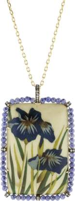 SILVIA FURMANOVICH Marquetry Blue Flower Necklace