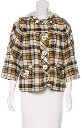 7 For All Mankind Seven Plaid Hooded Jacket