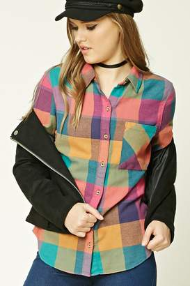 Forever 21 Buffalo Plaid Flannel Shirt