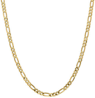 FINE JEWELRY 14K Gold 16 Inch Solid Figaro Chain Necklace