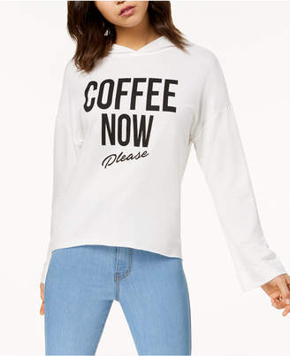 Pretty Rebellious Juniors' Coffee Graphic Hoodie