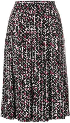 Marni patterned pleated skirt
