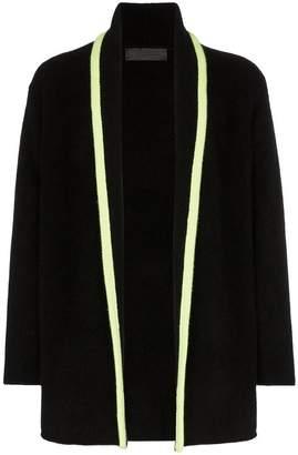 The Elder Statesman contrasting stripe knitted cashmere cardigan