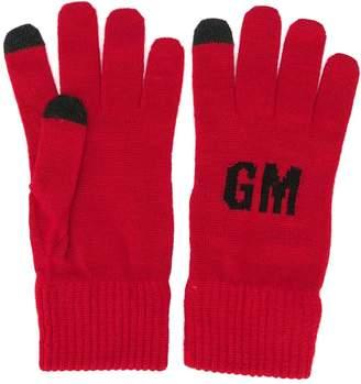 MSGM knitted logo gloves