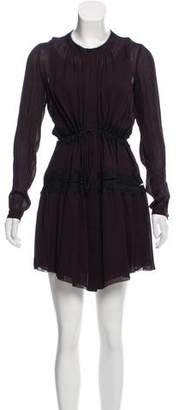 Maiyet Lace Trim Mini Dress