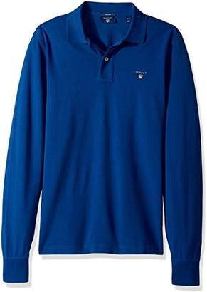 Gant Men's Long-Sleeved Pique Polo Shirt