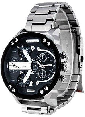 ABS by Allen Schwartz スポーツクォーツステンレススチールメンズデジタル腕時計。