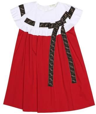 Fendi Embellished jersey dress