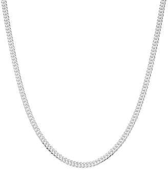PRIVATE BRAND FINE JEWELRY Made in Italy Mens Sterling Silver 22 Double Rombo Chain Necklace