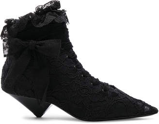 Saint Laurent Lace Blaze Ankle Boots