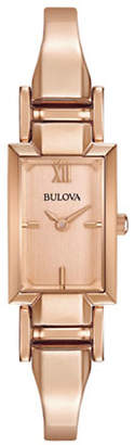 Bulova Analog Classic Rose Goldtone Stainless Steel Watch