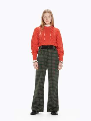 Scotch & Soda High Rise Wide Leg Trousers