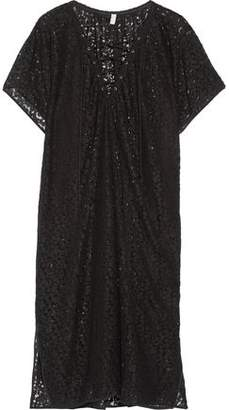Fleur Du Mal Lace-Up Corded Lace Kaftan