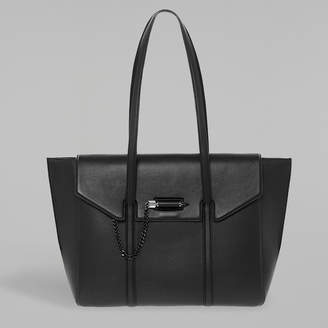 Mackage BARTON Double-handle genuine leather tote with flap