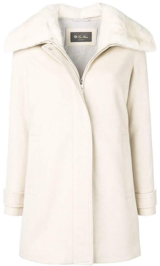 fur collared coat