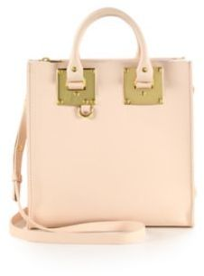 Sophie Hulme Square Albion Leather Tote $765 thestylecure.com