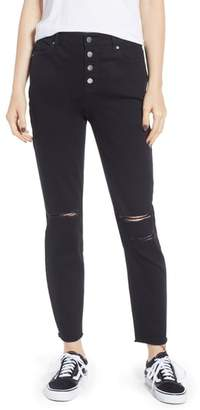 Tinsel Ripped High Waist Ankle Skinny Jeans