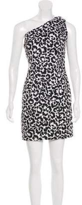 Calvin Klein Printed One-Shoulder Dress
