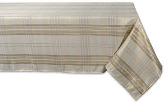 Design Imports Metallic Plaid Tablecloth