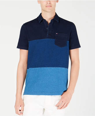 Tommy Hilfiger Men's Benson Custom-Fit Colorblocked Pocket Polo