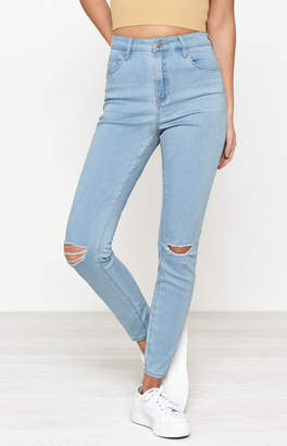 PacSun Soft Blue Super High Rise Skinniest Jeans