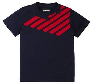 Armani Junior Boys' Raised-Logo Tee - Little Kid, Big Kid