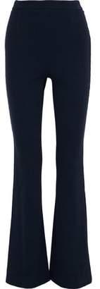 Pierre Balmain Metallic-Trimmed Cotton-Blend Flared Pants
