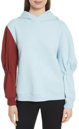 Tibi Sculpt Fleece Hoodie Sweatshirt
