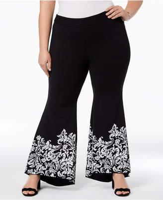 INC International Concepts I.n.c. Plus Size Printed Tulip Hem Pants