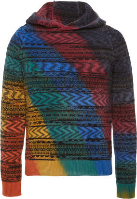 Missoni Striped Cashmere and Wool-Blend Hooded Sweatshirt