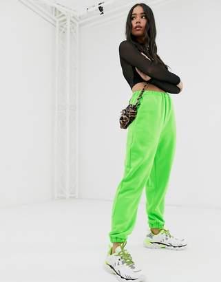 Asos Design DESIGN oversized neon jogger