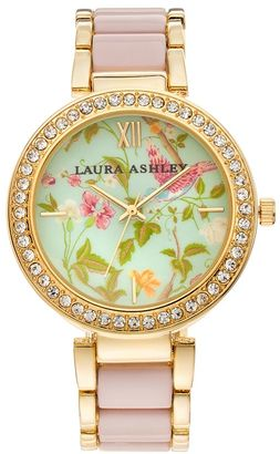 Laura Ashley Women's Crystal Watch $395 thestylecure.com
