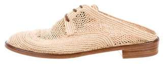 Robert Clergerie Round-Toe Lace-Tie Mules