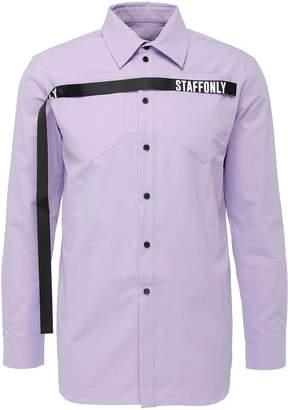 Staffonly 'Ralf' logo jacquard strap twill unisex shirt