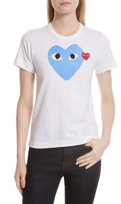 Women's Comme Des Garcons Play Heart Tee $118 thestylecure.com