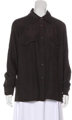 Steven Alan Silk Button-Up Top