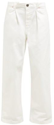 Raey Fold Dad Baggy Boyfriend Jeans - Womens - White