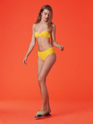 Diane von Furstenberg Banded Cheeky Mid-Rise Bikini Bottom