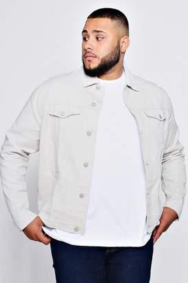 boohoo Big And Tall Pastel Denim Jacket