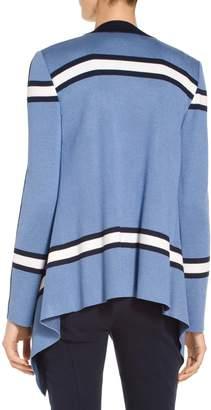 St. John Variegated Stripe Knit Cardigan