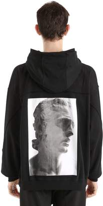 Damir Doma Hooded Zip-Up Cotton Jersey Sweatshirt